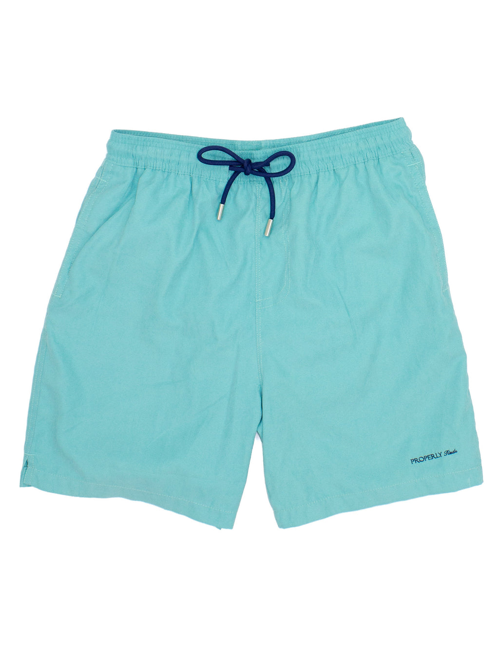 Properly Tied Boys Swim Trunks - Seafoam