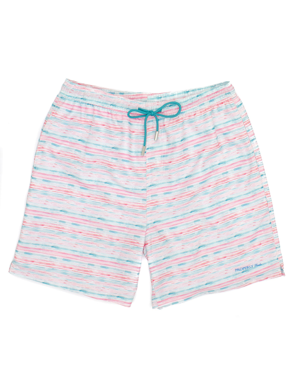 Properly Tied Boys Swim Trunks - Watercolor
