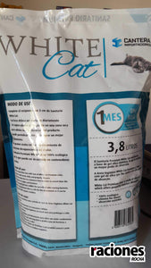 Piedras sanitarias para gatos White Cat