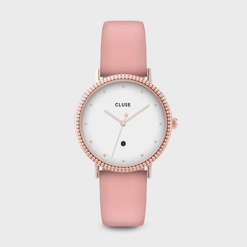 CLUSE Le Couronnement Rose Gold White/Soft Rose CL63002 - Horloge