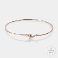CLUSE Force Tropicale Rose Gold Alligator Bangle Bracelet CLJ10020 - armbandje