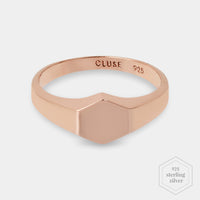 Essentielle Rose Gold Hexagon Ring 52 CLJ40011-52 - Ring maat 52