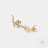CLUSE Force Tropicale Gold Alligator Stud Earrings CLJ51018 - Oorbellen