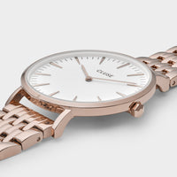 CLUSE La Bohème Multi-Link Rose Gold White/Rose Gold - Detail horlogekast