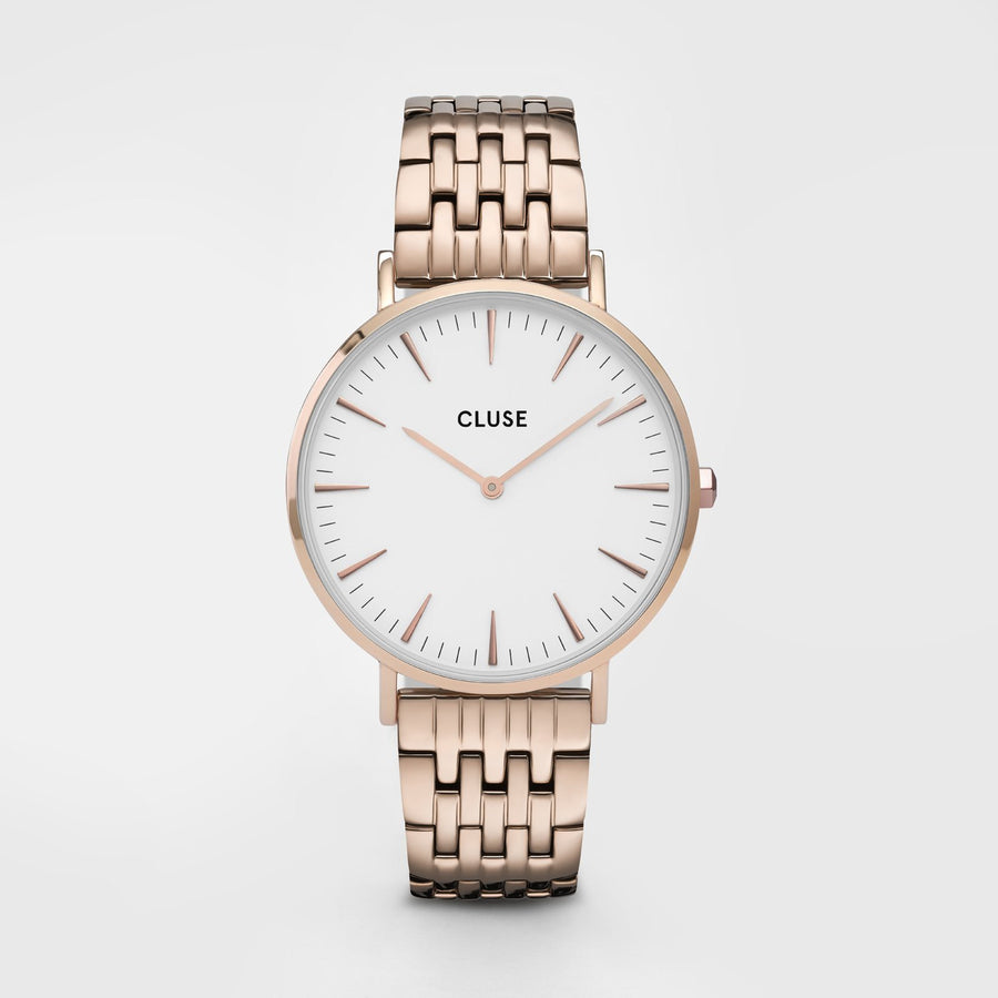 CLUSE La Bohème Multi-Link Rose Gold White/Rose Gold - Horloge