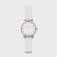 CLUSE La Vedette Leather Rose Gold White/White CW0101206005 - Horloge