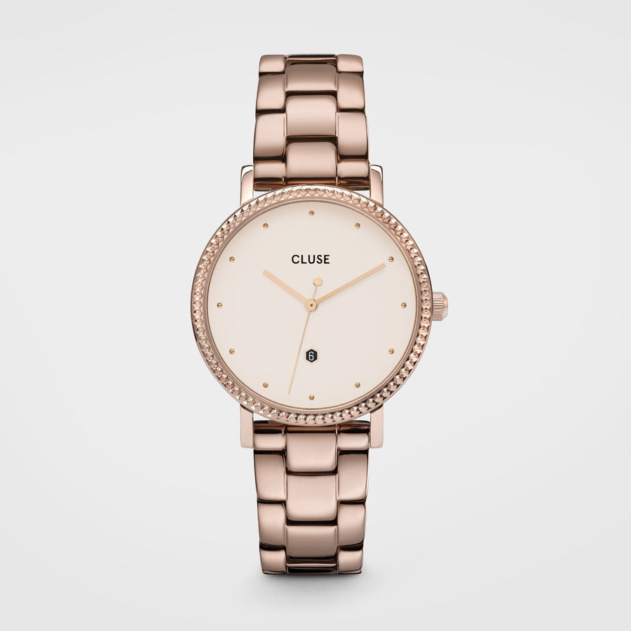 CLUSE Le Couronnement 3-Link Rose Gold Winter white/Rose Gold - Horloge