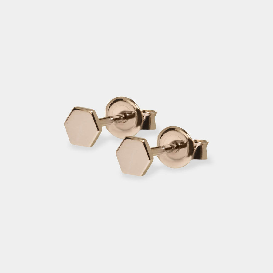 CLUSE Essentielle Rose Gold Hexagon Stud Earrings CLJ50006 - oorbellen