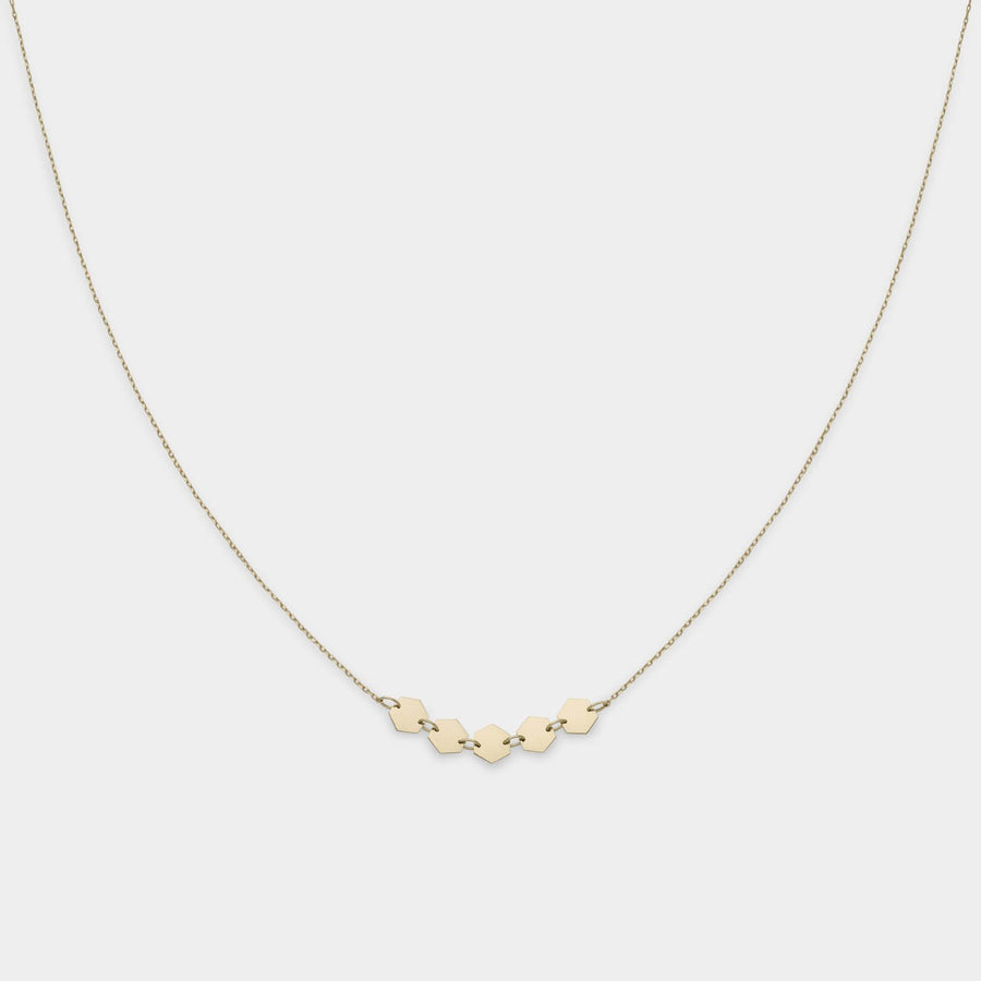 CLUSE Essentielle Gold Hexagons Necklace CLJ21001 - halsketting