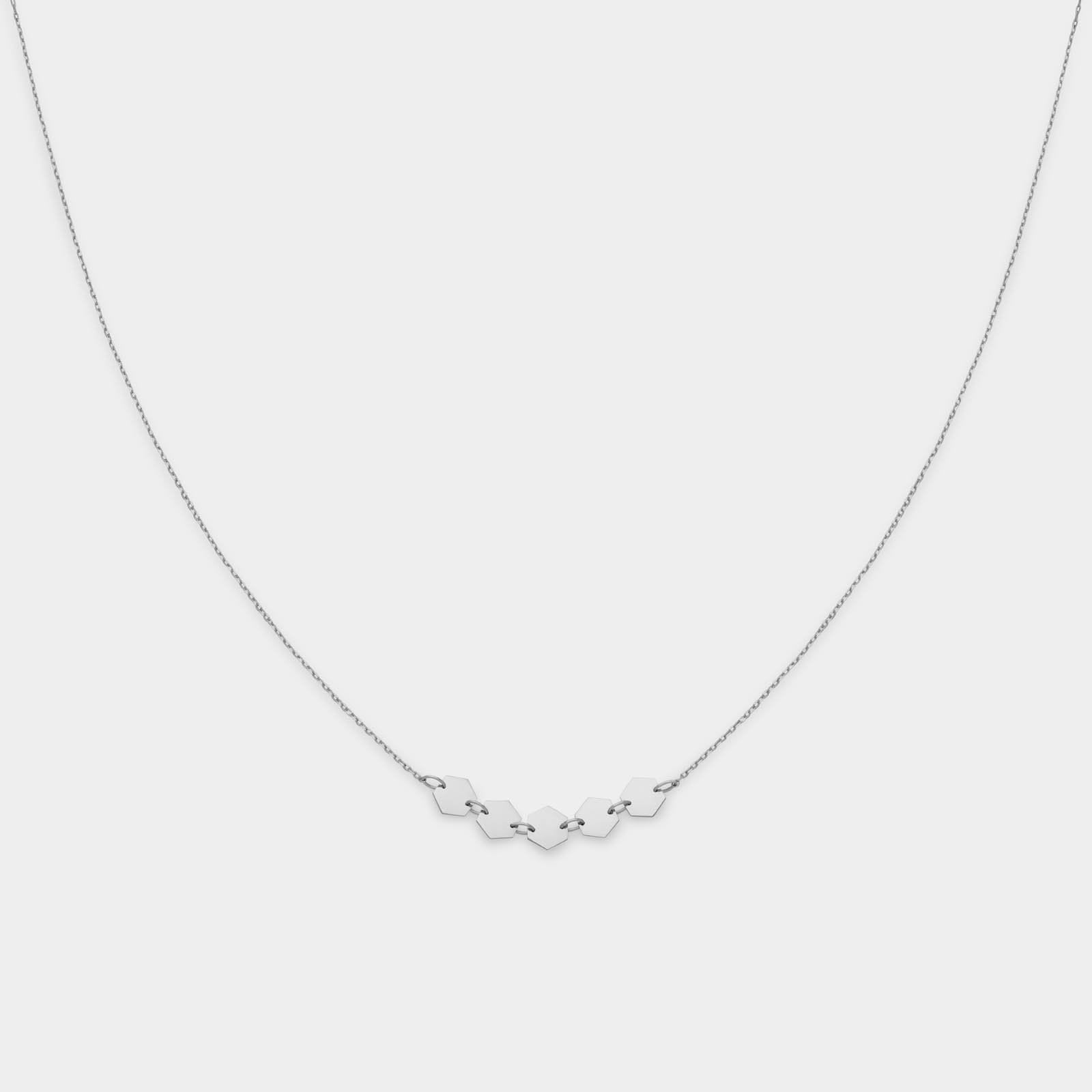 CLUSE Essentielle Silver Hexagons Necklace CLJ22001 - halsketting