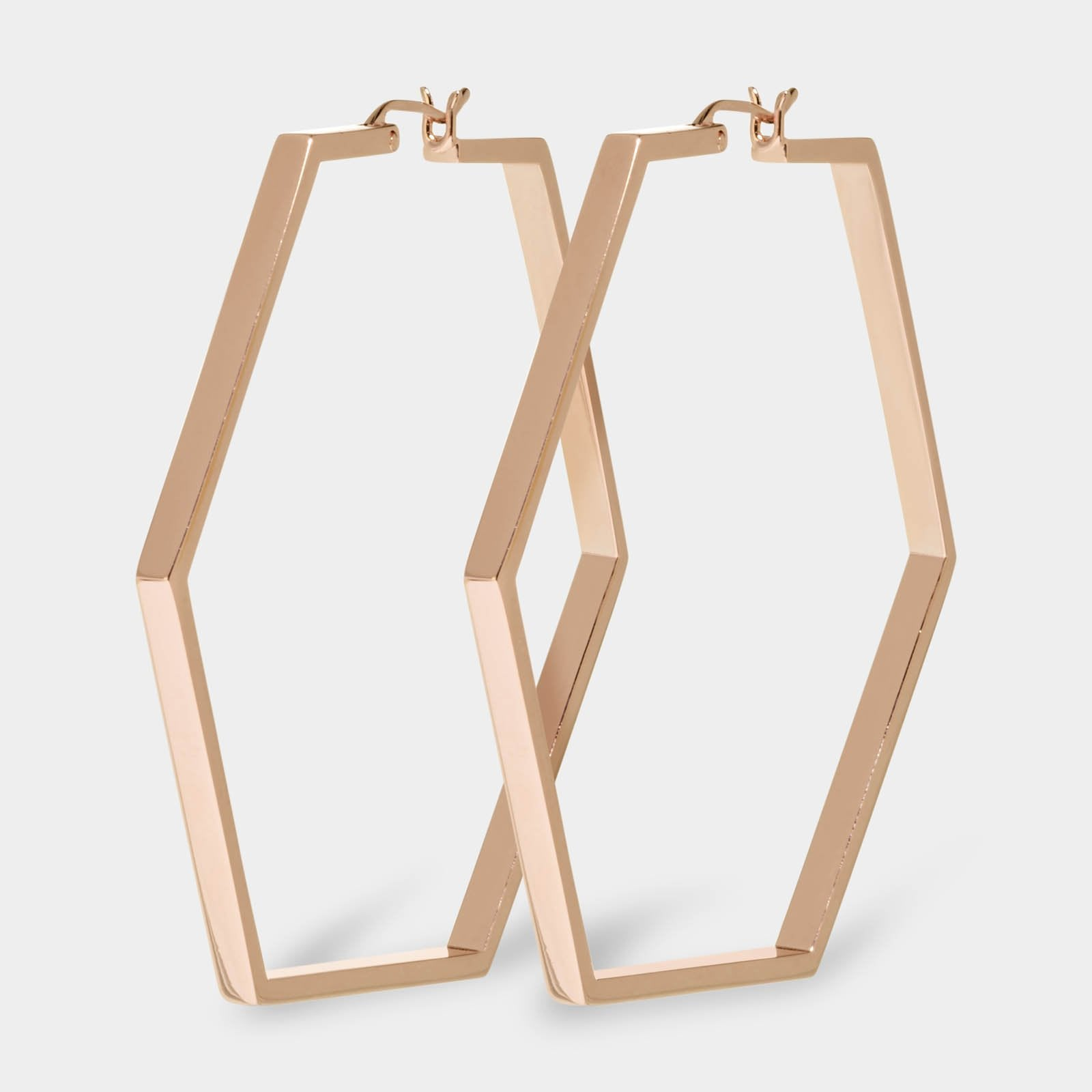 CLUSE Essentielle Rose Gold Large Hexagonal Hoop Earrings CLJ50003 - oorbellen