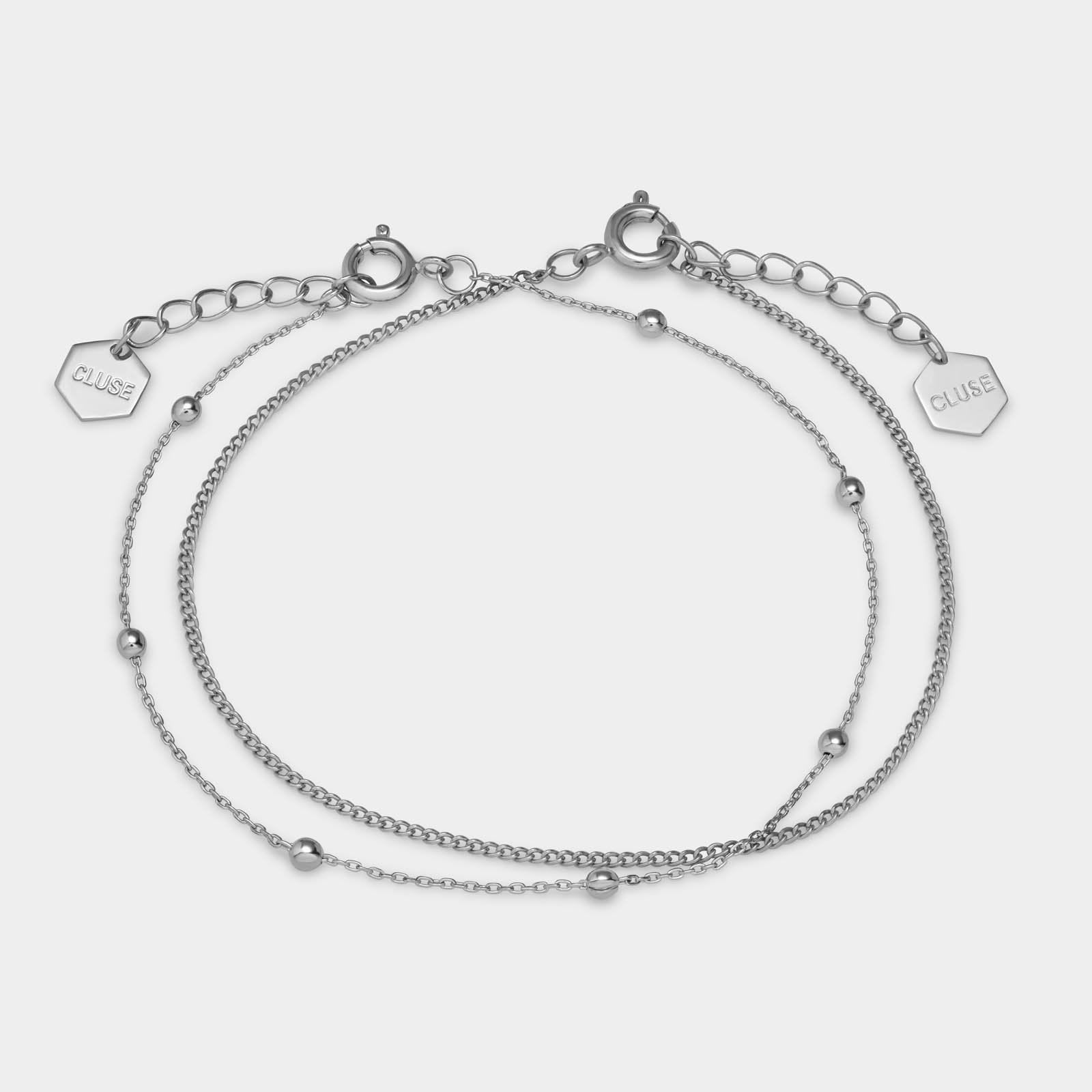 CLUSE Essentielle Silver Set of Two Fine Bracelets CLJ12010 - set van armbandjes