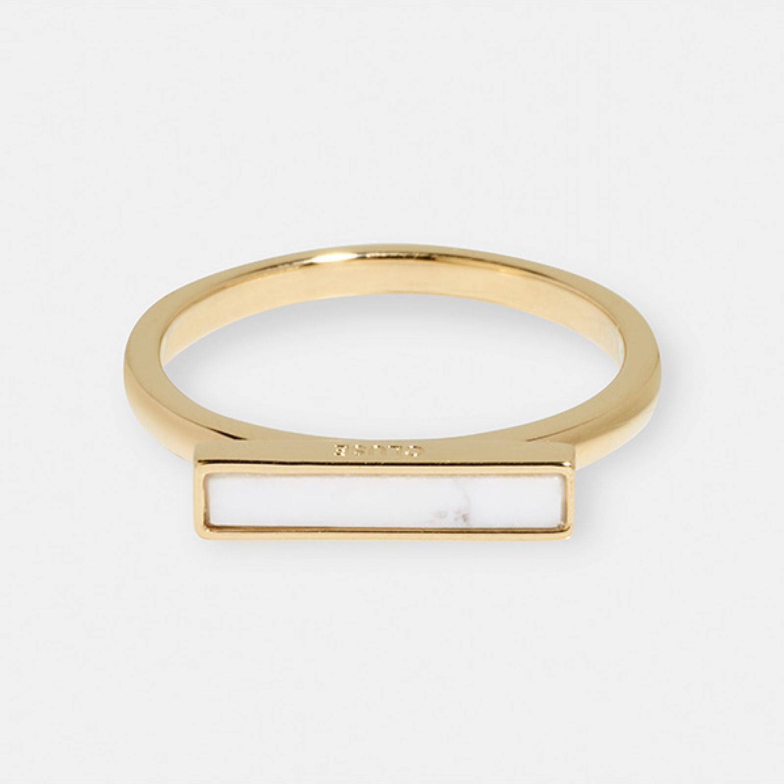 Idylle Gold Marble Bar Ring - 54