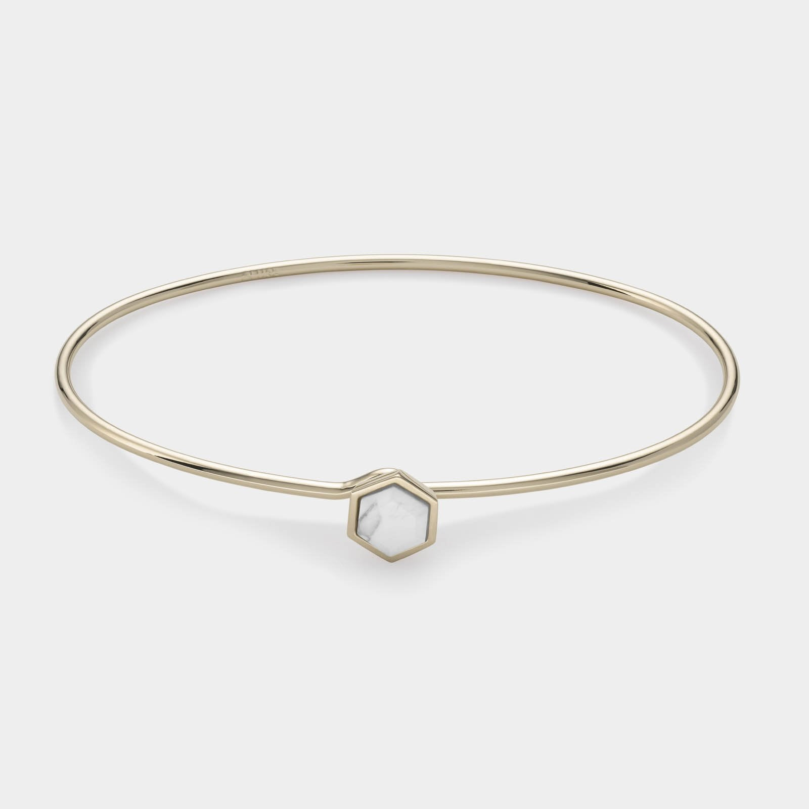 CLUSE Idylle Gold Marble Hexagon Bangle Bracelet CLJ11002 - armbandje
