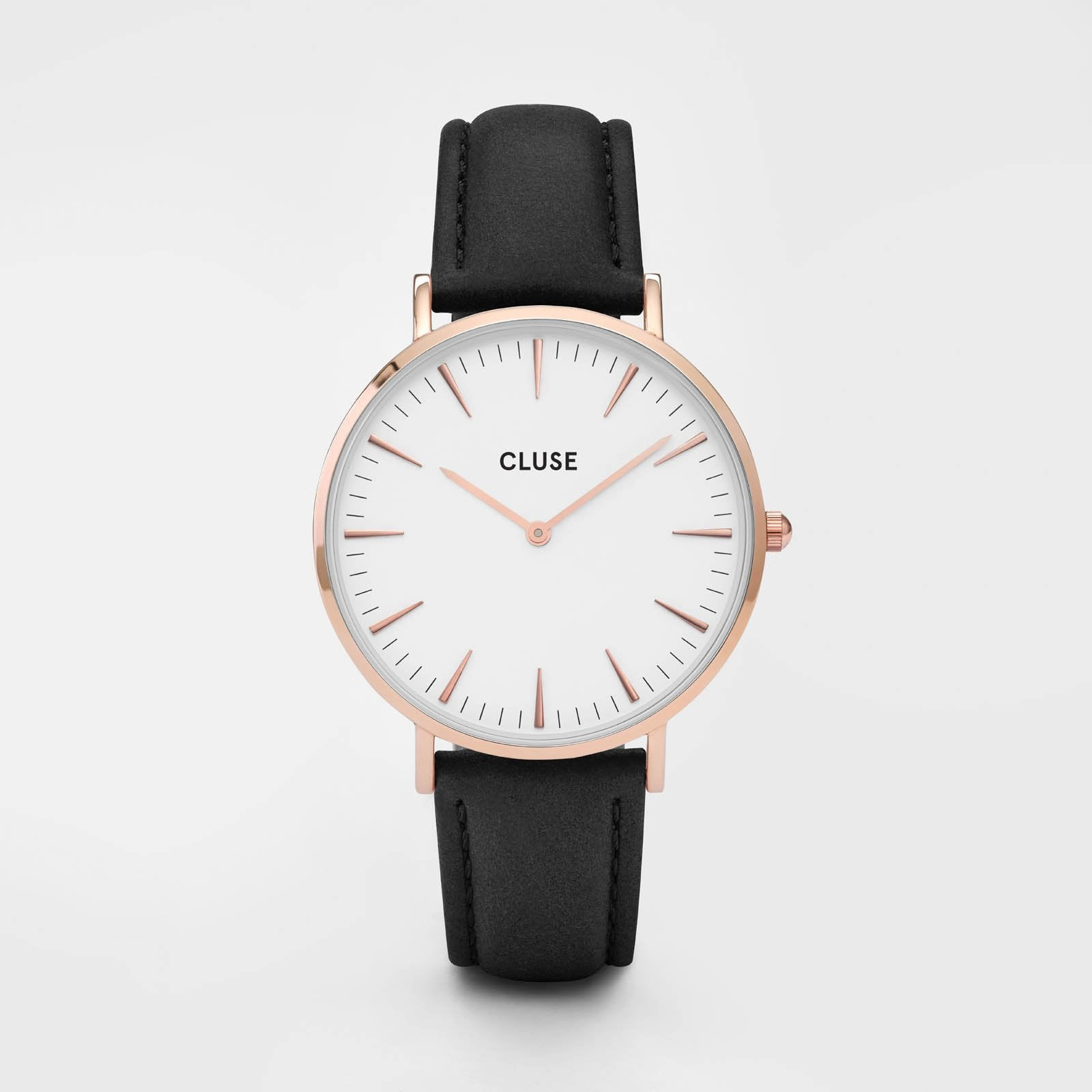 CLUSE La Bohème Rose Gold White/Black CL18008 - horloge
