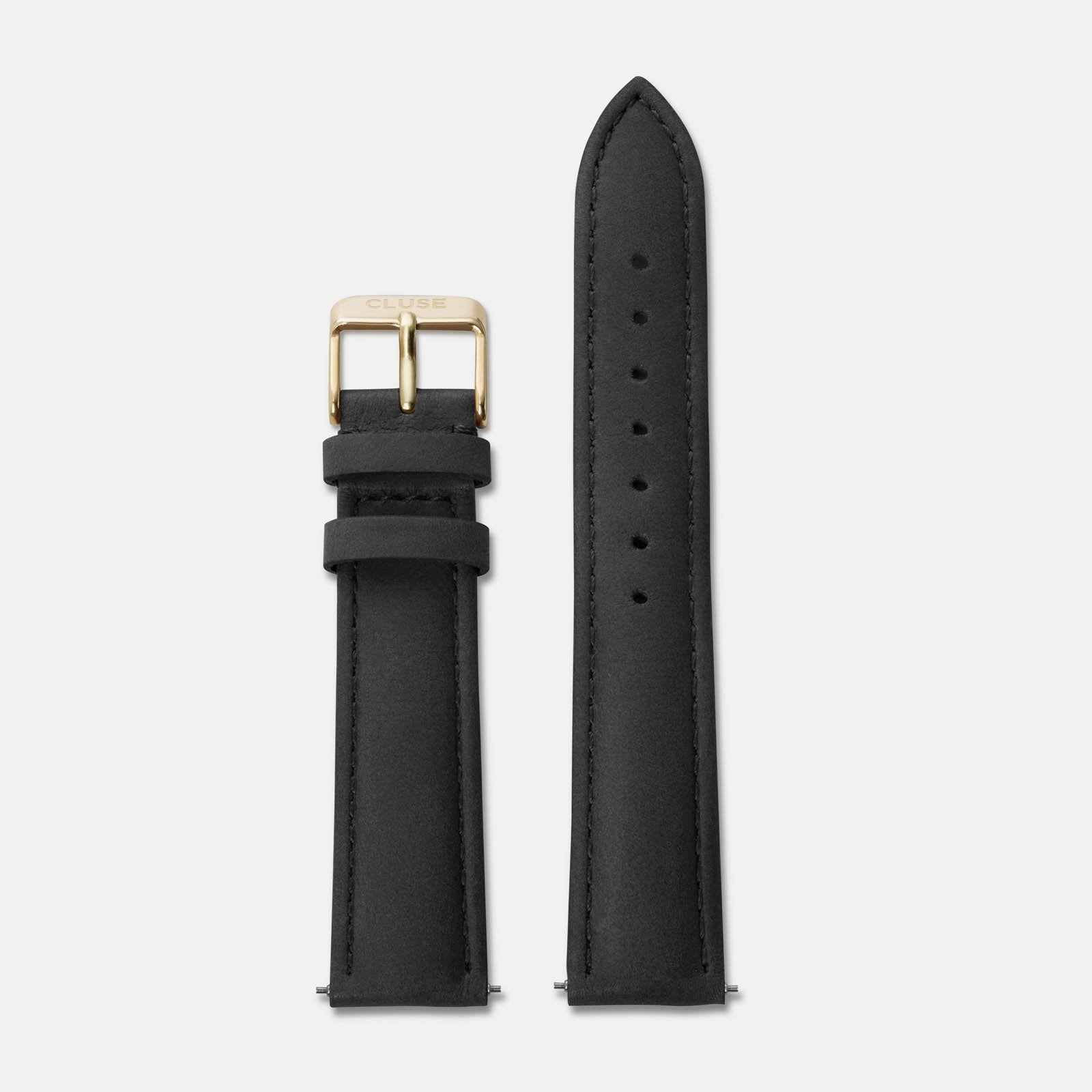 CLUSE 18 mm Strap Black/Gold CLS021 - bandje
