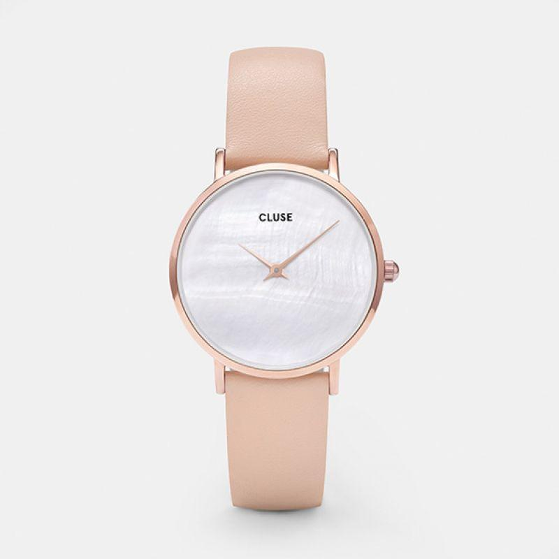 CLUSE La Perle Rose Gold White Pearl/Nude CL30059 - horloge