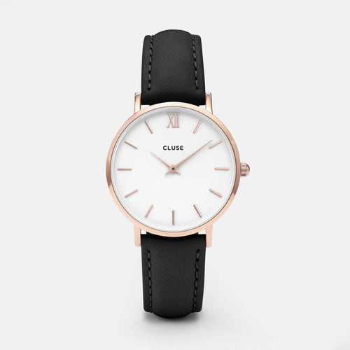 Image: CLUSE Minuit Rose Gold White/Black CL30003 - horloge