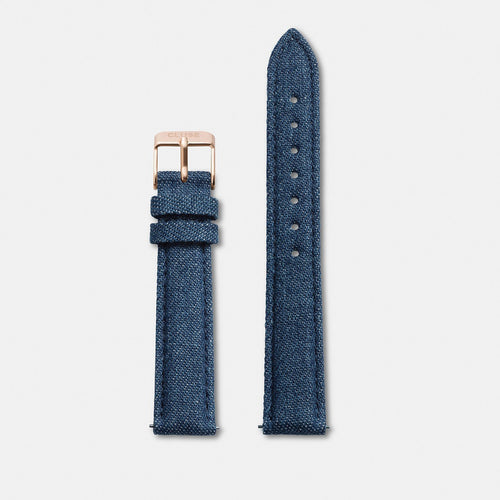 Image: CLUSE 16 mm Strap Blue Denim/Rose Gold CLS330 - bandje