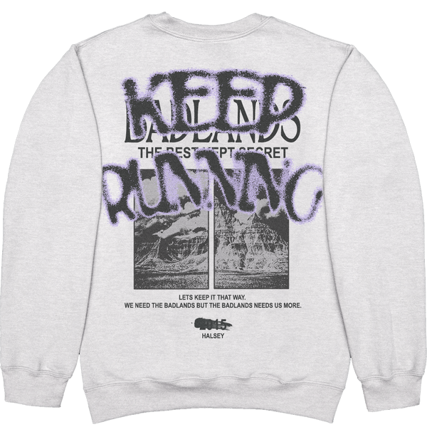 KEEP RUNNING ASH SWEATER