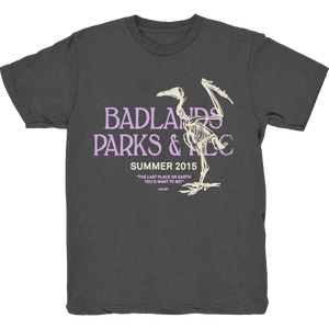 PARKS AND REC VINTAGE BLACK T SHIRT