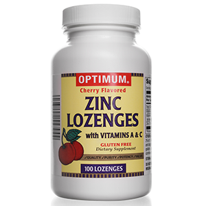 Zinc Lozenges | With Vitamin A & C | 100 Count | Gluten Free | Dietary Supplement
