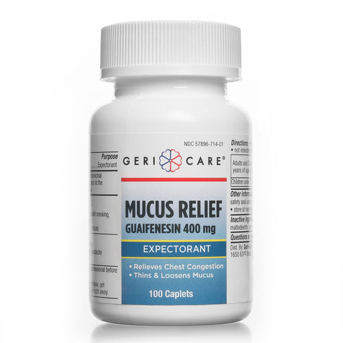 Mucus Relief Guaifenesin 400 mg 100 count Caplets (Pack of 4)