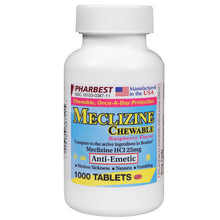 Meclizine 25 mg 1000 Count Chewable Tablets