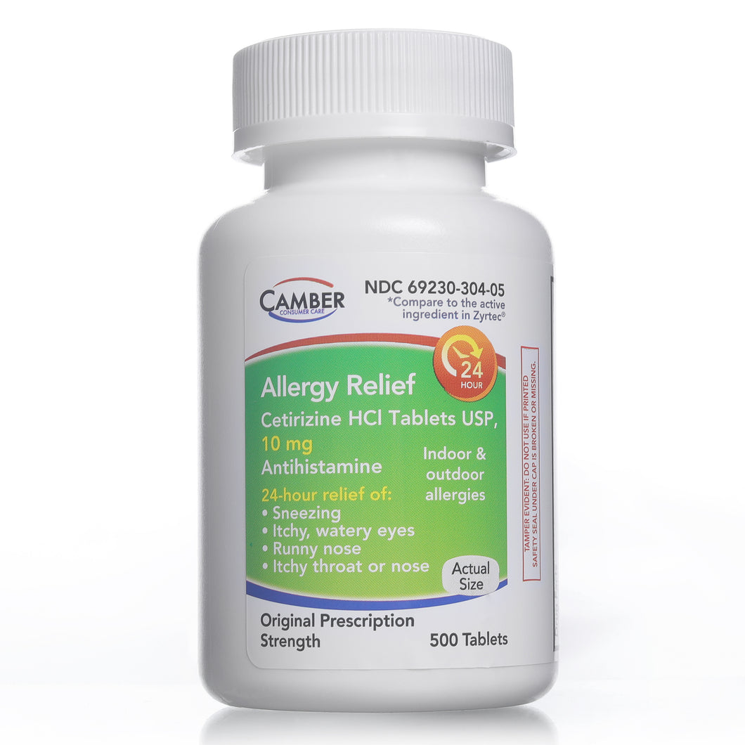 Allergy Relief | Cetirizine Hcl 10mg | 500 Count Tablets