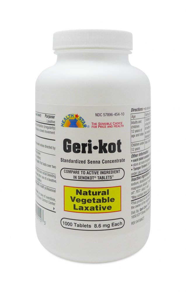 Geri-Kot Senna 8.6mg 1000 count