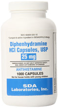 Load image into Gallery viewer, SDA Laboratories Diphenhydramine Capsules, 25mg, 1000 Count