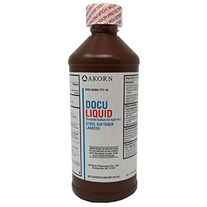 Docu Liquid | Docusate Sodium 50mg/5ml 16 oz bottle