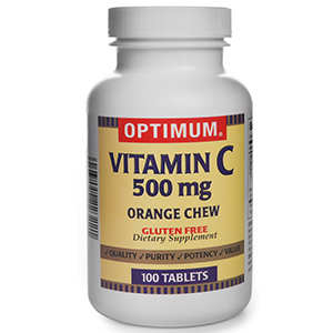 Vitamin C 500 mg | 100 Count Chewable Tablets | Gluten Free | Dietary Supplement
