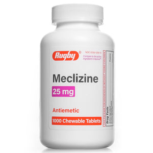 Meclizine Chewable Tablets - 25mg - Bottle of 1000
