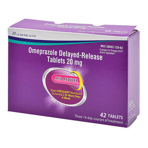 OMEPRAZOLE DELAYED-RELEASE 20MG 42 COUNT TABLETS