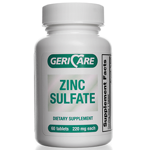Zinc Sulfate 220 mg  60 count Tablets
