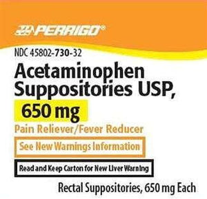 Perrigo Acetaminophen Rectal Suppositories, 650mg, 12 CT