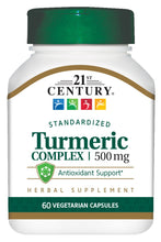 Load image into Gallery viewer, 21st Century Turmeric Complex Vegetarian Capsules, 60 Count