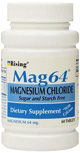 Rising Mag64 Magnesium Chloride with Calcium Tablets, 300 Count, (Pack of 5)