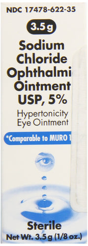 Akorn Sodium Chloride 5 Percentage Ophthalmic Ointment 0 .12 Oz, 3. 5 Gm, Compare To Muro 128