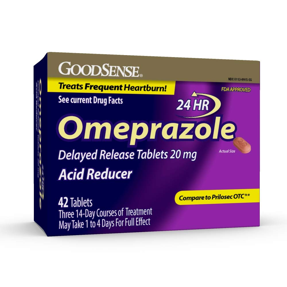 Good Sense Omeprazole Delayed Release, Acid Reducer Tablets 20 mg 42 ea