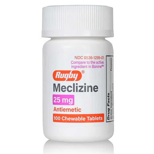 Travel Sickness | Meclizine 25 hcl mg | 100 Count Chewable Tablets