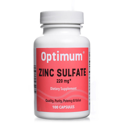 Zinc Sulfate 220 mg 100 Count Capsules | Dietary Supplement
