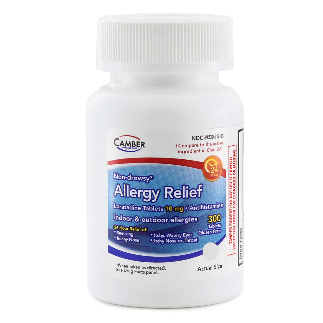 ALLERGY RELIEF LORATADINE 10MG ANTIHISTAMINE 300 TABLETS