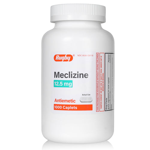 Meclizine 12.5 mg | 1000 Count Caplets | Antiemetic