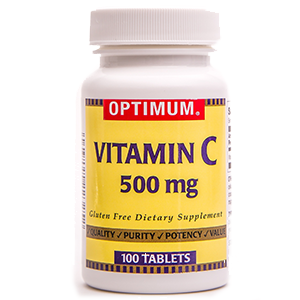 Vitamin C 500 mg | 100 Count Tablets | Gluten Free | Dietary Supplement