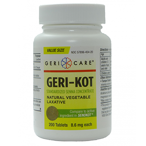 Geri-Kot Senna 8.6mg 200 count Tablets