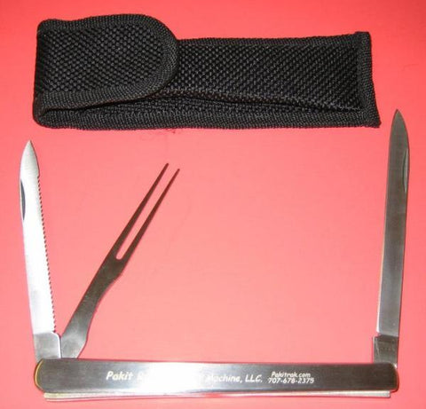2 Blade Gourmet Travel Knife with Fork