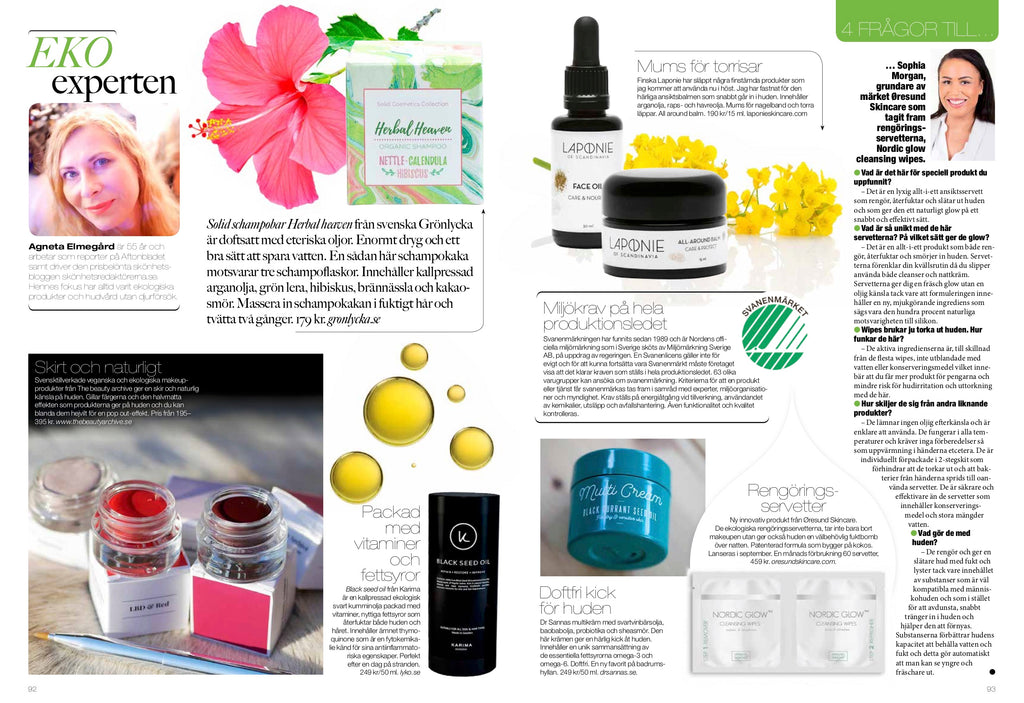 Nordic Glow featured in beauty magazine