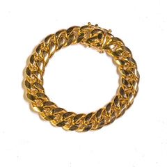 Golden Gilt 14mm Miami Cuban Link Bracelet
